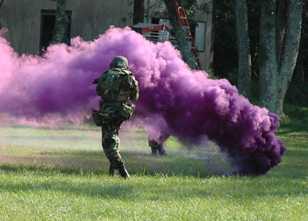 Smoke grenade being used – Surplus Store Crawley