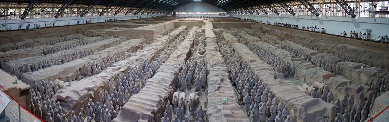 Panoramic of one of the Terracotta Warrior hangers – Surplus Store