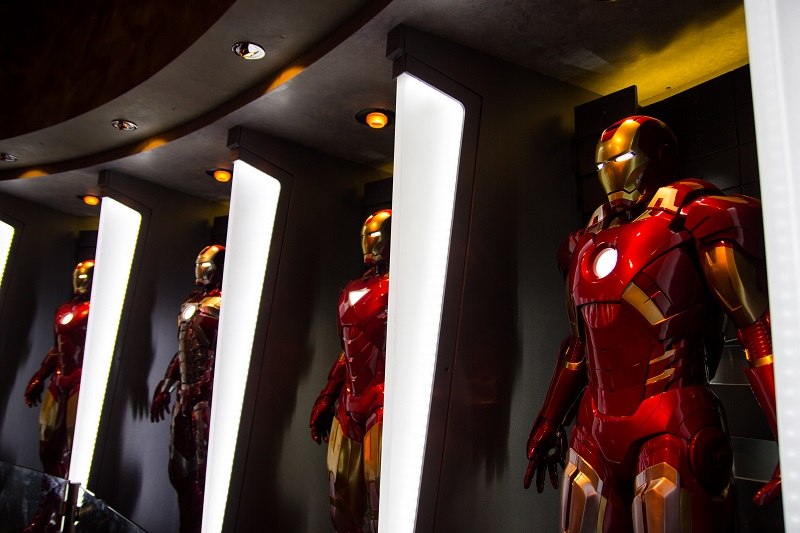 Iron Man suits lined up, will airsoft equipment ever be that advanced?