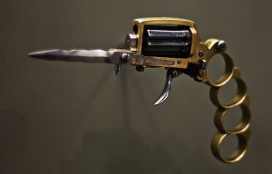 Apache Revolver, folds out to incorporate knuckle duster and knife.