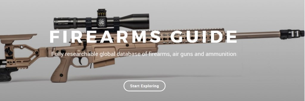 Firearms Guide contains entire database of firearms, ammunition and air guns