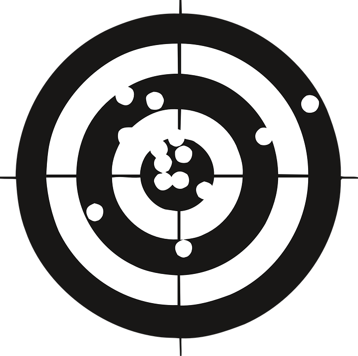 A black and white air rifle target