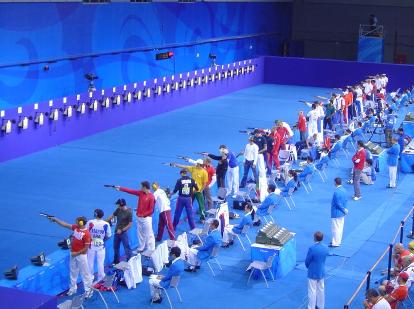 Olympic air pistol shooting at the 2008 Olympic Games