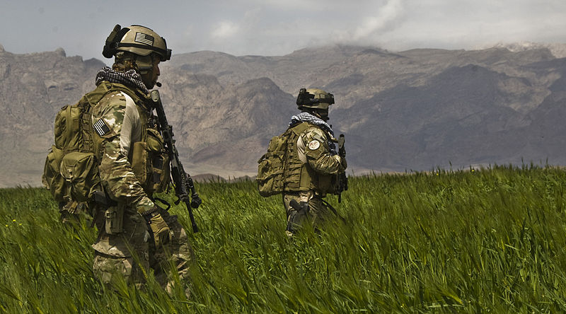 U.S. Army soldiers on patrol using equipment which could be adapted for airsoft gear
