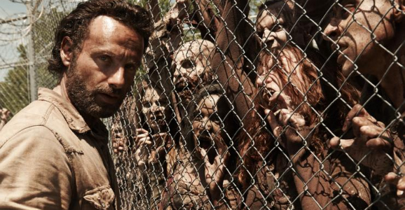 Rick Grimes and zombies from The Walking Dead