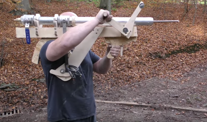 The Airzooka, possibly the world's largest portable air rifle?