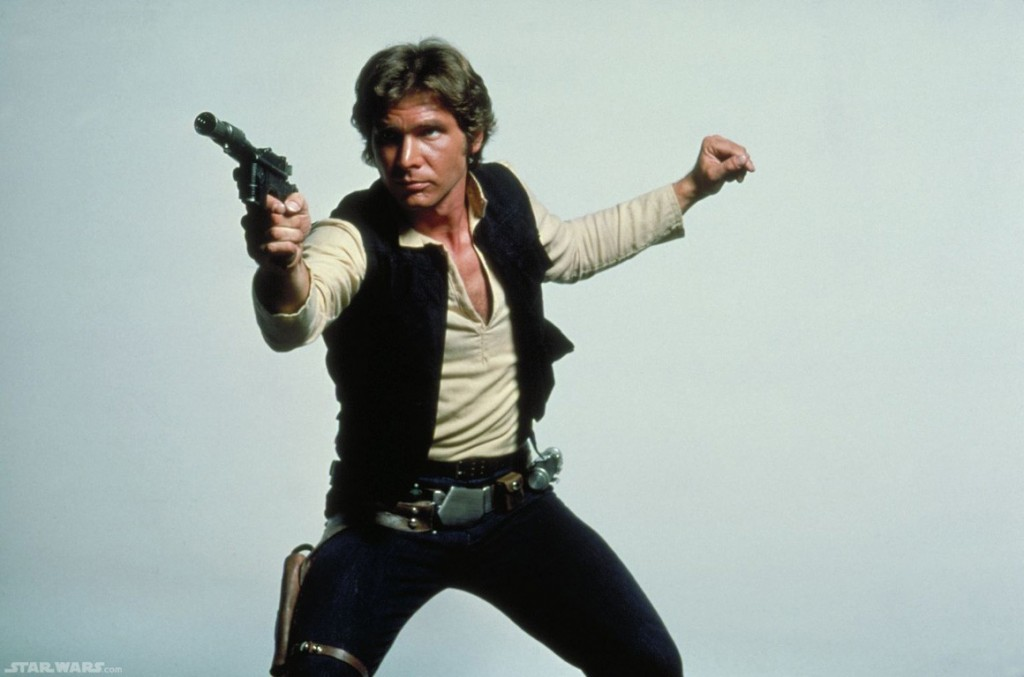 Han Solo with deactivated gun modified to make DL-44 blaster