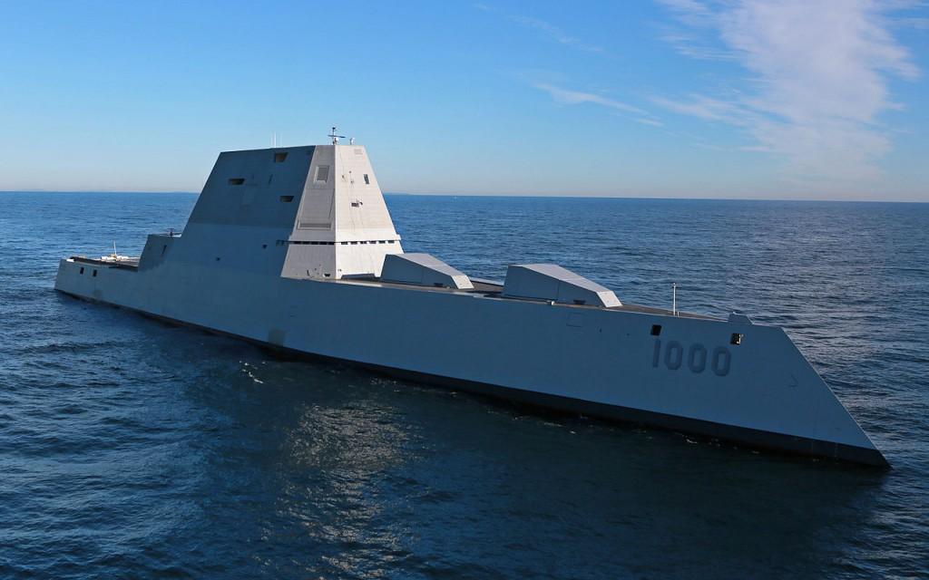 USS Zumwalt on the water