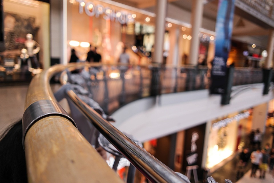 A busy shopping centre where our survival tips will come in handy