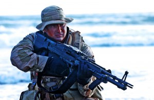 Marine with M60 - airsoft gun version available at Surplus Store