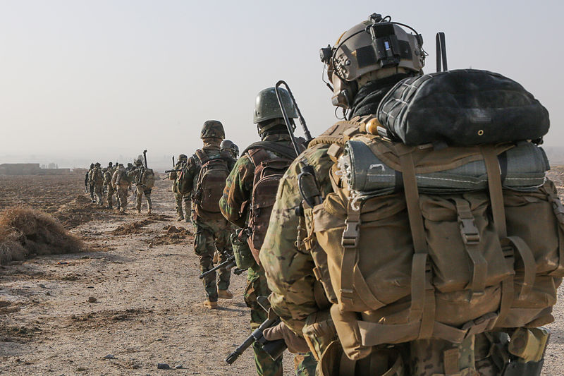 U.S. Special Forces on patrol