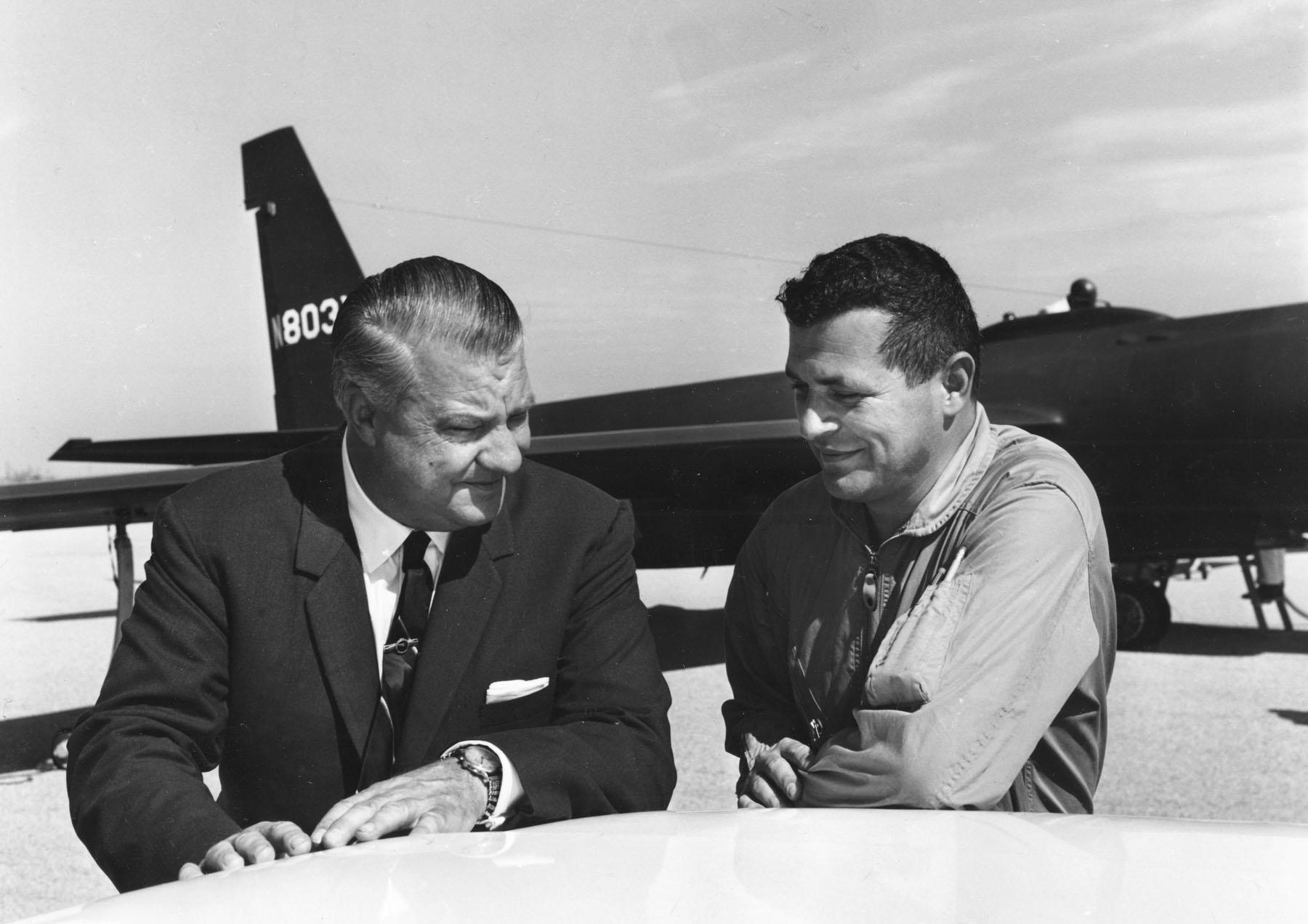 Gary Powers & Kelly Johnson in 1966