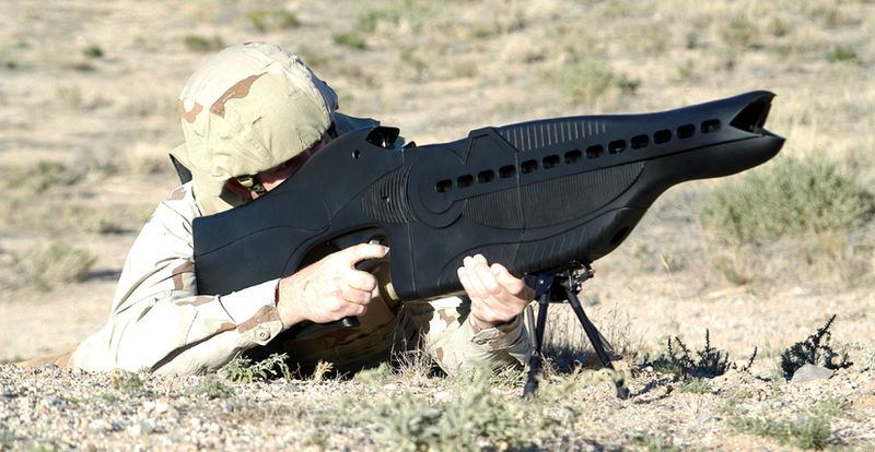 a long way from airsoft guns, crazy military weapons