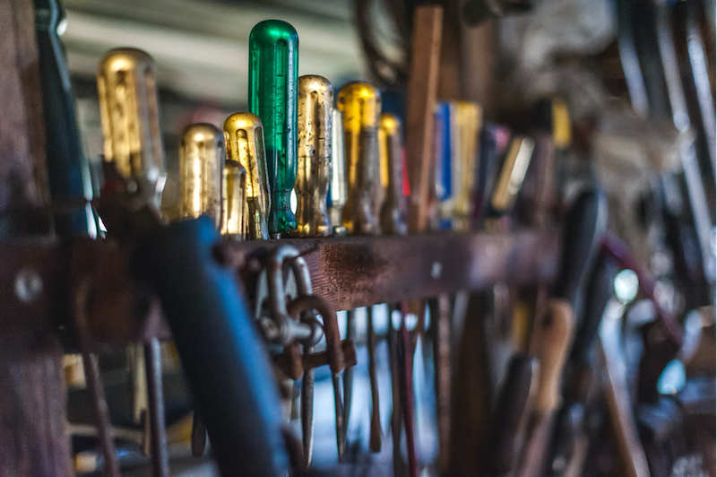 A collection of screwdrivers