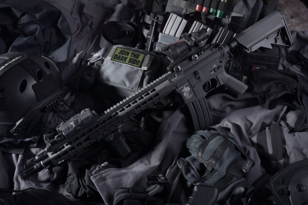 Selection of airsoft gear
