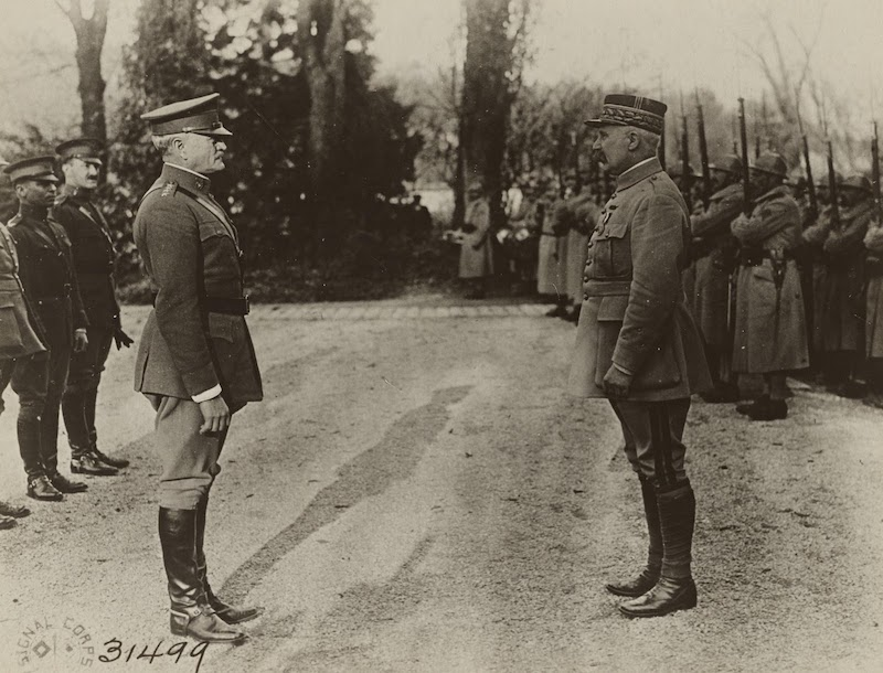 General Pershing and Marshal Foch, 1917