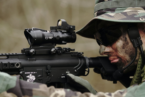 A sniper in the woods