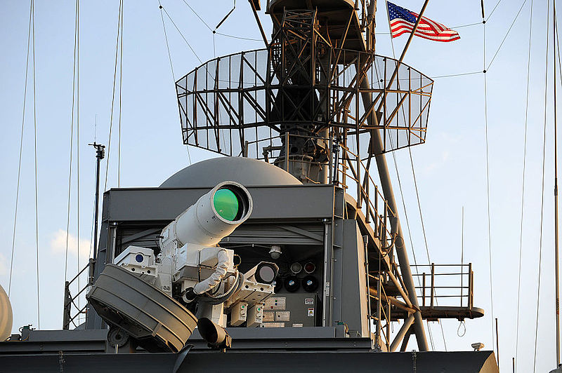 Laser Weapon System on USS Ponce