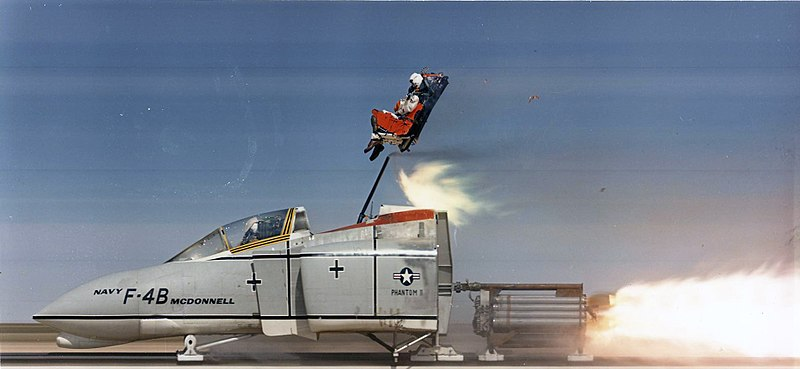 Ejector seat used to test the strength of firearm.