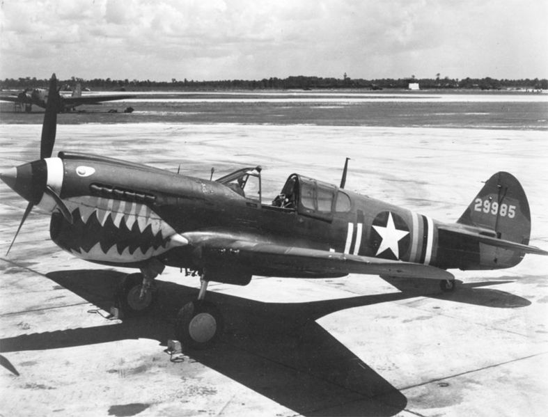 P-40 Fighter Plane like the ones used in defence of Pearl Harbor