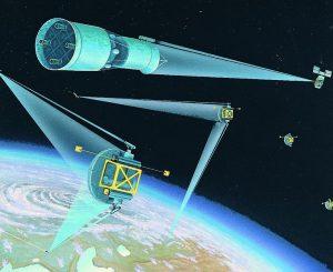 artist concept of Soviet space-based strategic defences
