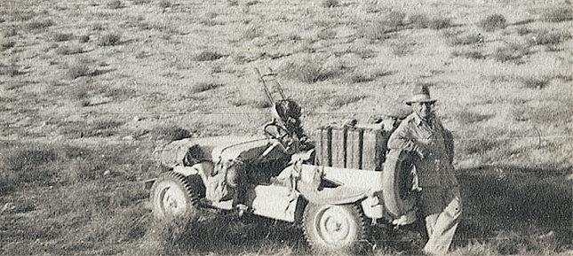 Popski and his jeep