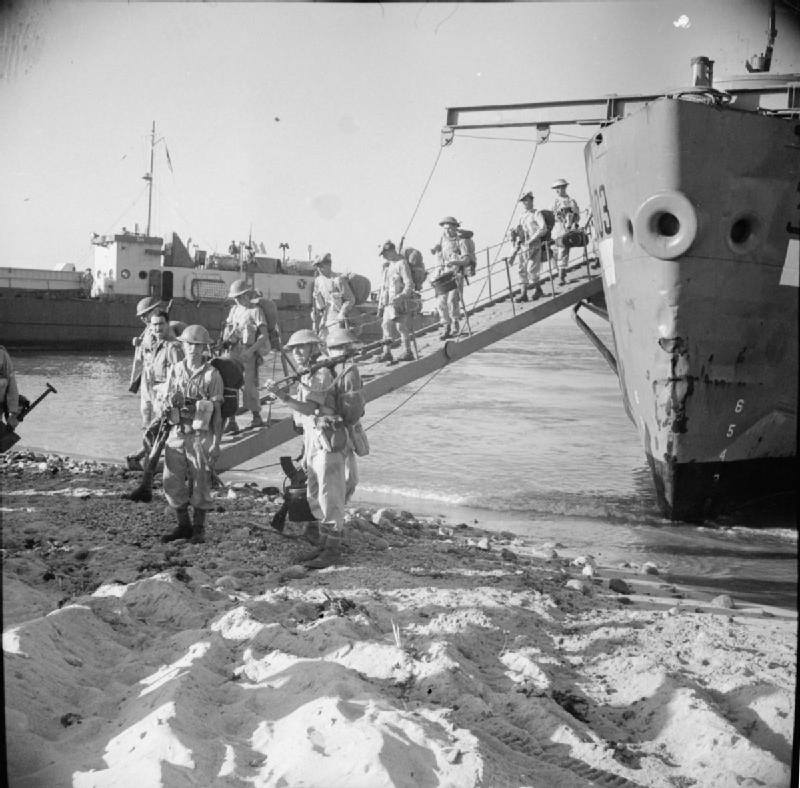 Allied forces landing in Italy