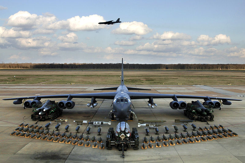 B-52H with its full load laid out