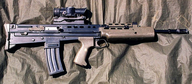 The L85A1 rifle from 1996.