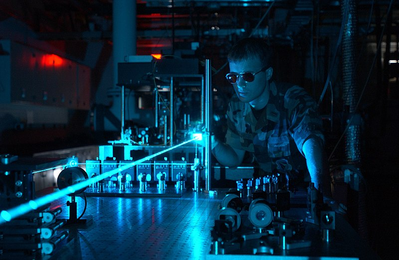 Laser Test by U.S. Military Personnel