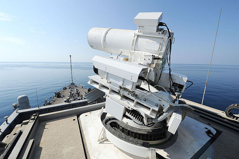 Laser Weapon System aboard USS Ponce