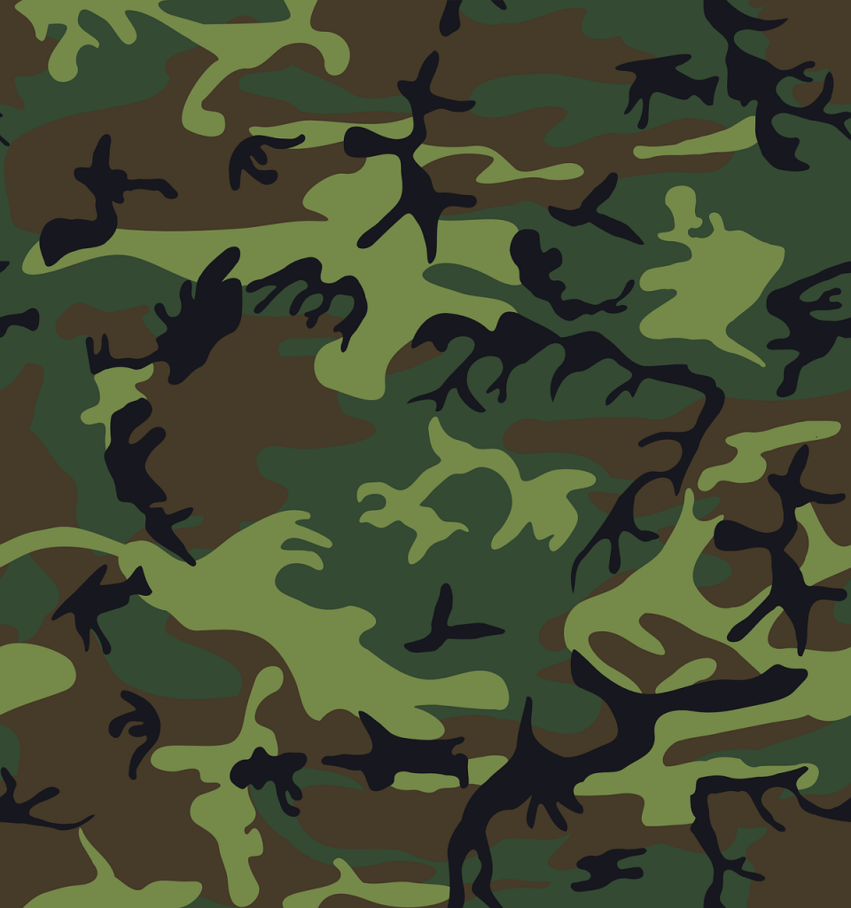 some camouflage fabric