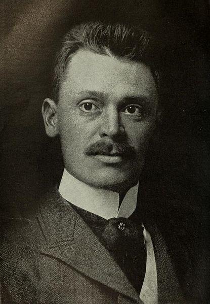 portrait of rifle suppressor inventor, Hiram Percy Maxim.