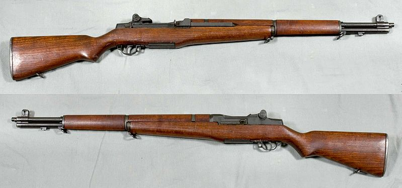 The M1 Garand rifles.