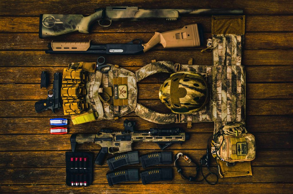 Airsoft kit.