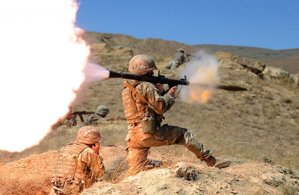 A RPG being fired by a soldier