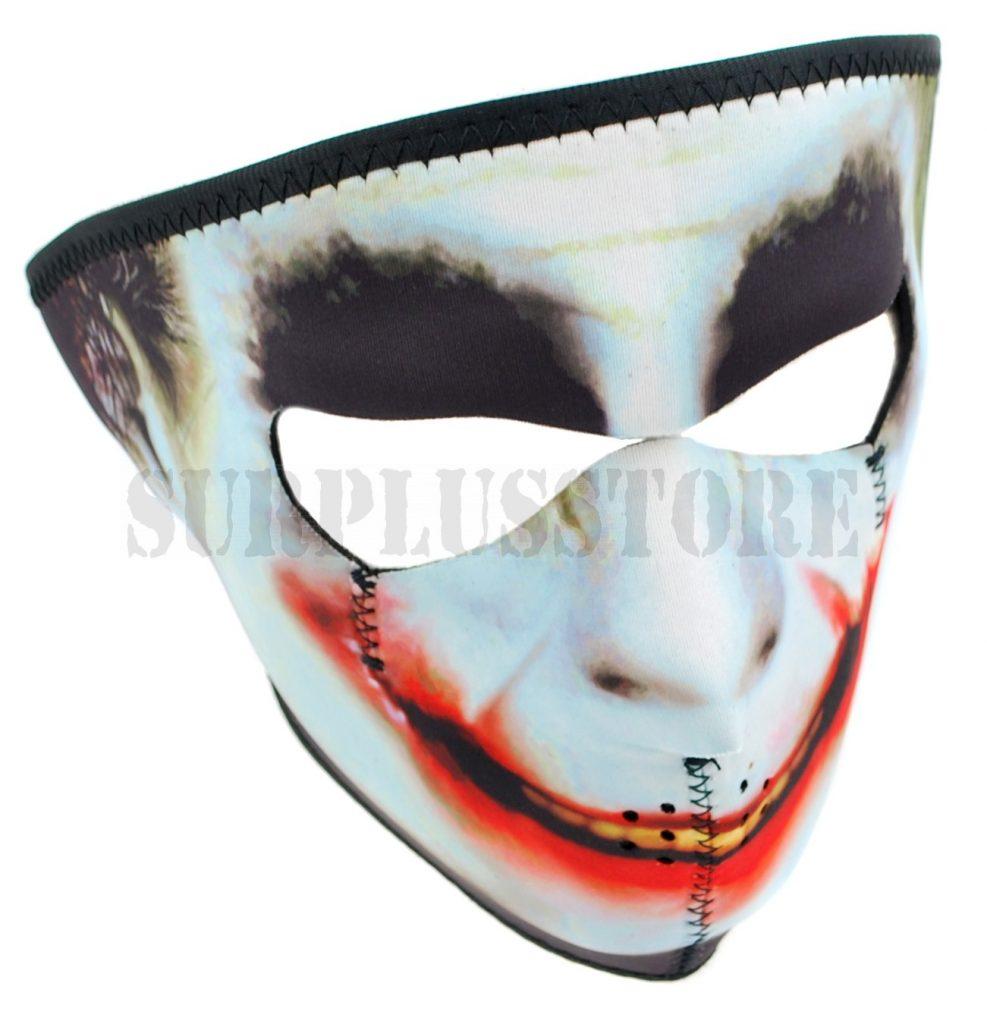 Neoprene mask with Joker design