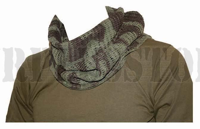 Camouflage print scrim net scarf