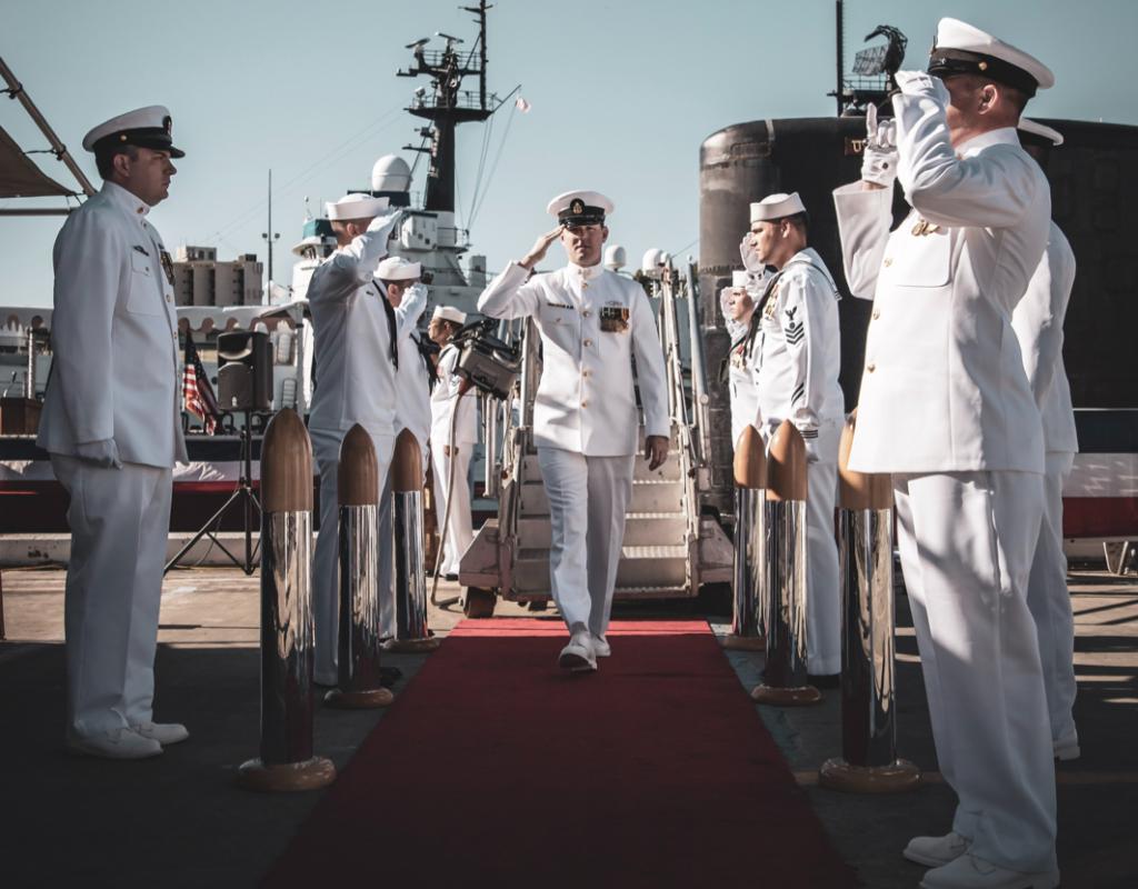 US Navy in White Uniform