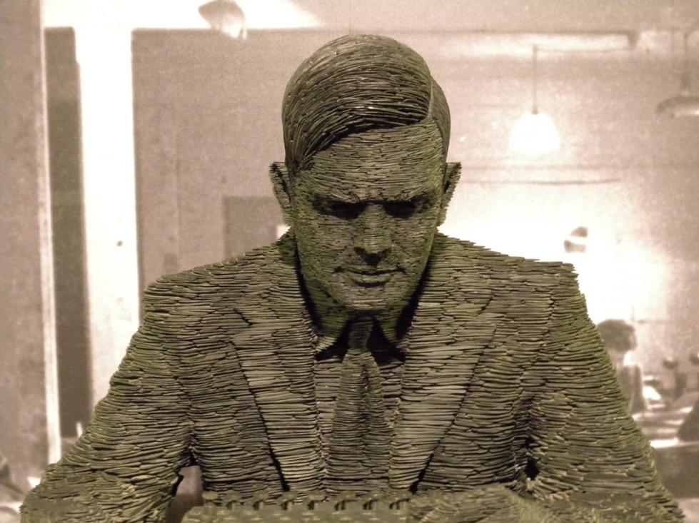 Alan Turing Slate Sculpture